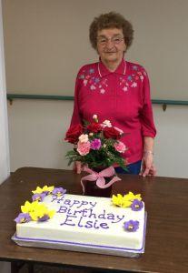 grandma and her cake